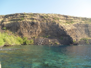 Kealakekua Bay from the Captain Cook Monument. Simply the finest snorkeling.  Ever.  Photo by Donald MacGowan