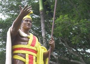 King Kamehameha Statue, North Kohala: Photo by Donnie MacGowan