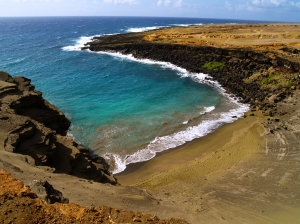 South Point, Hawaii's Famous Green Sand Beach: Photo by Donald MacGowan