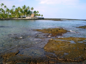 Place of Refuge at Hounaunau, Kona Hawaii: Photo by Donald MacGowan