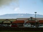 Snow on Mauna Kea as seen from Waimea, Hawaii: Photo by Donald MacGowan