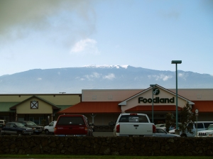 Snow on Mauna Kea Waimea, Hawaii: Photo by Donald MacGowan