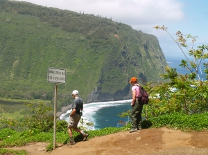 Waipi'o Valley Day Hikers: Photo by Donald MacGowan