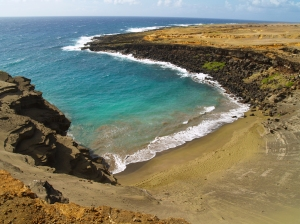 Mahana Green Sand Beach, South Point Hawaii: Photo by Donnie MacGowan