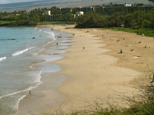 Hapuna Beach from the south: Photo by Donnie MacGowan