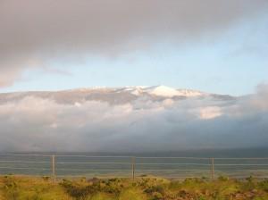 Waimea and Kohala Volcano from the Lower Slopes of Mauna Kea: Photo by Donald MacGowan
