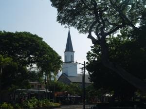 Downtown Kailua Town, Kona Hawaii: Photo by Donald MacGowan