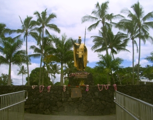 King Kamehameha Statue, Hilo Hawaii: Photo by Kilgore Trout