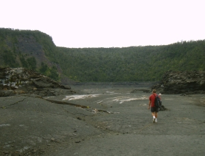 Frank Burgess On Kilauea Iki Trail: Photo by Donnie MacGowan