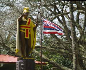 King Kamehameha Statue, Kapa'au: Photo by Donald MacGowan