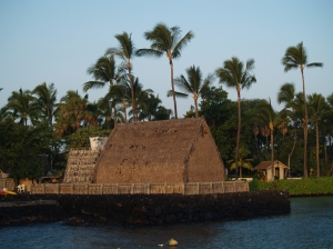 Morning at Ahu'ena Heiau, Kailua Kona Hawaii: Photo by Donnie MacGowan