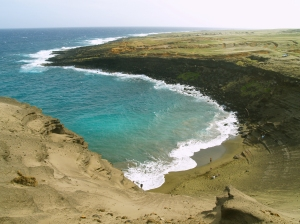 Mahana Green Sand Beach in the Afternoon: Photo by Donnie MacGowan
