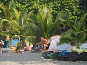 Morning Campers at Ho'okena Beach Park: Photo by Donnie MacGowan