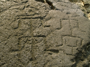 Cryptic Carvings of Enigmatic Human Figures from Near Ke'eku, Kona HI: Photo by Donald B. MacGowan