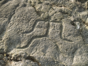 Anthropomorphic Petroglyph from, the Makaole'a Petroglyph Field Near Kailua Kona, HI: Photo by Donnie MacGowan