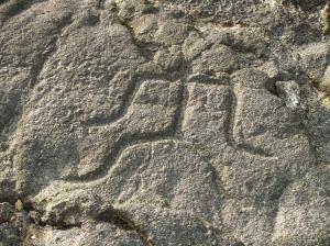 Anthropomorphic Petroglyph from, the Makaole'a Petroglyph Field Near Kailua Kona, HI: Photo by Donnie MacGowan