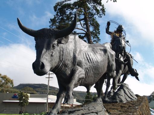Statue of Hawaii's Most Famous Paniolo, Ikua Purdy, In Waimea: Photo by Donnie MacGowan