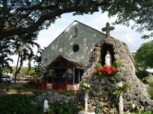 Saint Michael the Arch Angel Catholic Church, Kailua Kona Hawaii: Photo by Donnie MacGowan