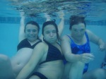 Liz, Amy and Unidentifiable Older Sibling of the Photographer Pose for the Underwater Camera: Photo by Donald MacGowan