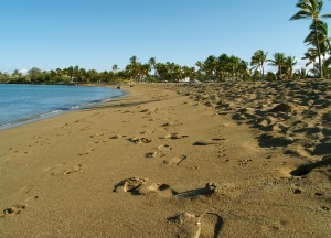 The Justly Famous Anaeho'omalu Beach is a Long Crescent of Gorgeous Sand: Photo by Donnie MacGowan