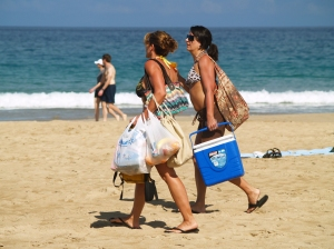 At Hapuna It's a 7 Minute Walk From The Car To The Beach...Be Sure To Bring Everything You Need: Photo by Donnie MacGowan
