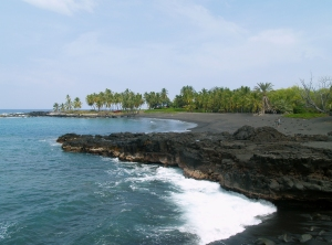 Honomalino Beach is a Short Hike From the Old Hawaiian Fishing Village of Miloli'i: Photo by Donald B. MacGowan