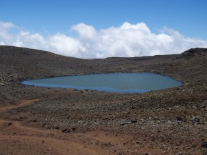 "Lake Wai'au--the Seventh Highest Lake in the US--Whose Name Means ""Swirling Water"", Perches Near the Summit of Mauna Kea On The Big Island of Hawaii: Photo by Donnie MacGowan"