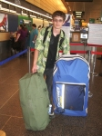 When Deciding What Kind Of Car You Want To Rent, Take into Account How Much Luggage Your Group Has; Bradford MacGowan at Seattle Tacoma International Airport: Photo by Donnie MacGowan