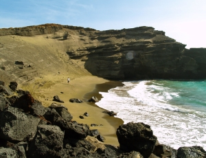 Mahana Bay and the Green Sand Beach at South Point: Photo by Donnie MacGowan