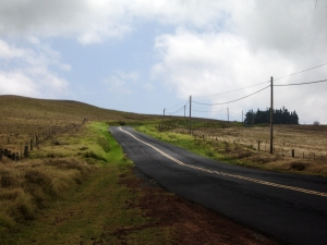 Saddle Road Climbs up the Western Flank of Mauna Kea near Wai'iki Ranch: Photo by Donnie MacGowan