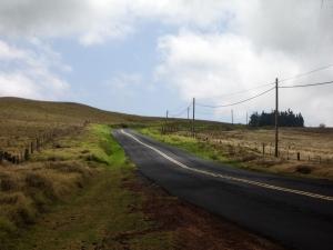 Saddle Road Climbs up the Western Flank of Mauna Kea near Wai'iki Ranch: Photo by Donnie MacGowan