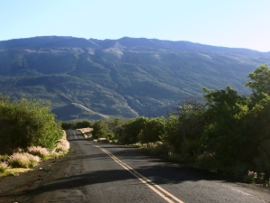 Looking up to the Summit of Mauna Kea from Saddle Road: Photo by Donnie MacGowan