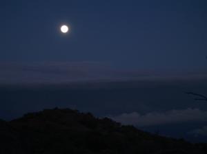 Full Moon Over the Mauna Kea-Mauna Loa Sadlle: Photo by Donald B. MacGowan
