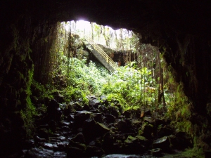 Kaumana Cave: Photo by Donald B. MacGowan