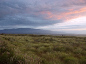 Evening Sunset over Hualalai Volcano on the Return Trip Along Saddle Road: Photo by Donnie MacGowan