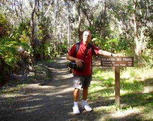 Frank Burgess Along the Kilauea Iki Trail: Photo by Donald B. MacGowan