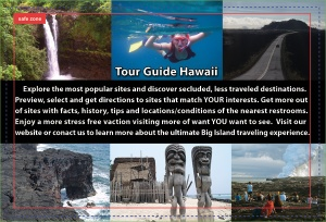 Tour Guide Hawaii iPod and iPhone App puts the magic, mystery and romance of Hawaii in the palm of your hand. It's like having a friend from Paradise sitting in your car, telling you where to go, what to do and all the island secret spots...