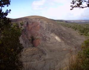 Pu'u Pua'i From Kilauea Iki Crater Rim Trail: Photo by Donnie MacGowan