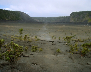 Looking Straight Across Kilauea Iki Crater: Photo by Donnie MacGowan