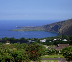 View of Monument from Napo'opo'o Road Near the Trail Head: Photo by Donald B. MacGowan