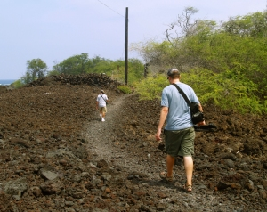 Sharp a'a Lava Along the Honomalino Trail Makes You Glad You Wore Real Shoes!: Photo by Donnie MacGowan