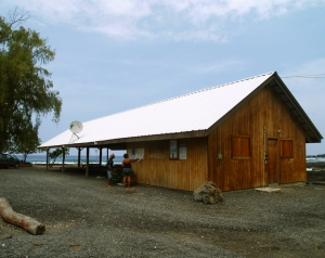 Parking for the Hike is at the Miloli'i County Park Pavilion: Photo by Donald MacGowan