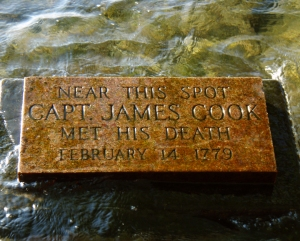 Marker Where James Cook Was Killed: Photo by Donnie MacGowan