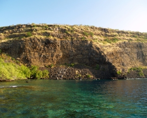 Kealakekua Bay at Cook Monument: Photo by Donnie MacGowan