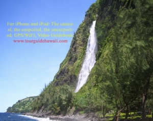 An Enormous Waterfall at Mouth Waipi'o Valley: Photo by Donald B. MacGowan