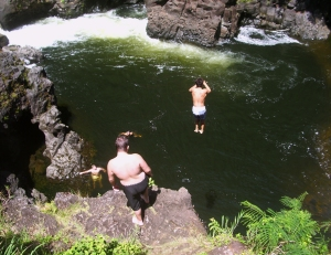 Hilo is About Fun; Boiling Pots at Wailuku River Rark:Photo by Donnie MacGowan
