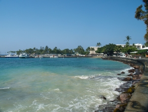 Along the Seawall, Kailua Kona, Hawaii: Photo by Donnie MacGowan