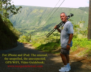 Frank Burgess hiking down Waipi'o Valley: Photo by Donald B. MacGowan