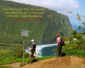 Day Hikers at the top, just starting down into Waipi'o Valley: Photo by Donald B. MacGowan