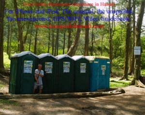 There are porta-potties and litter barrels for visitor's convenience at the bottom of Waipi'o Valley: Photo by Donald B. MacGowan